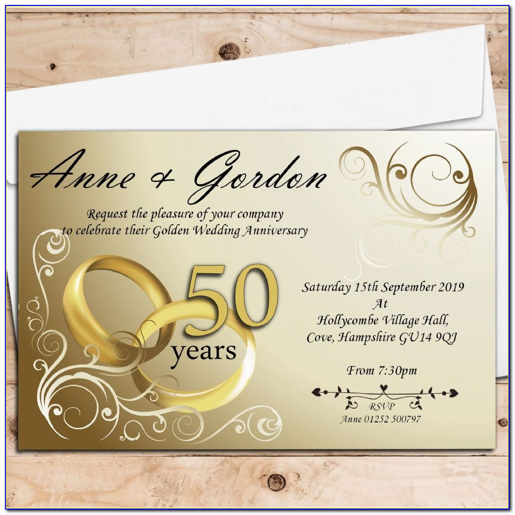 Golden Wedding Invitation Printable