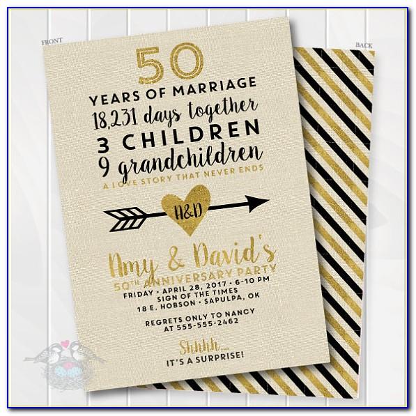 Golden Wedding Invitation Wording