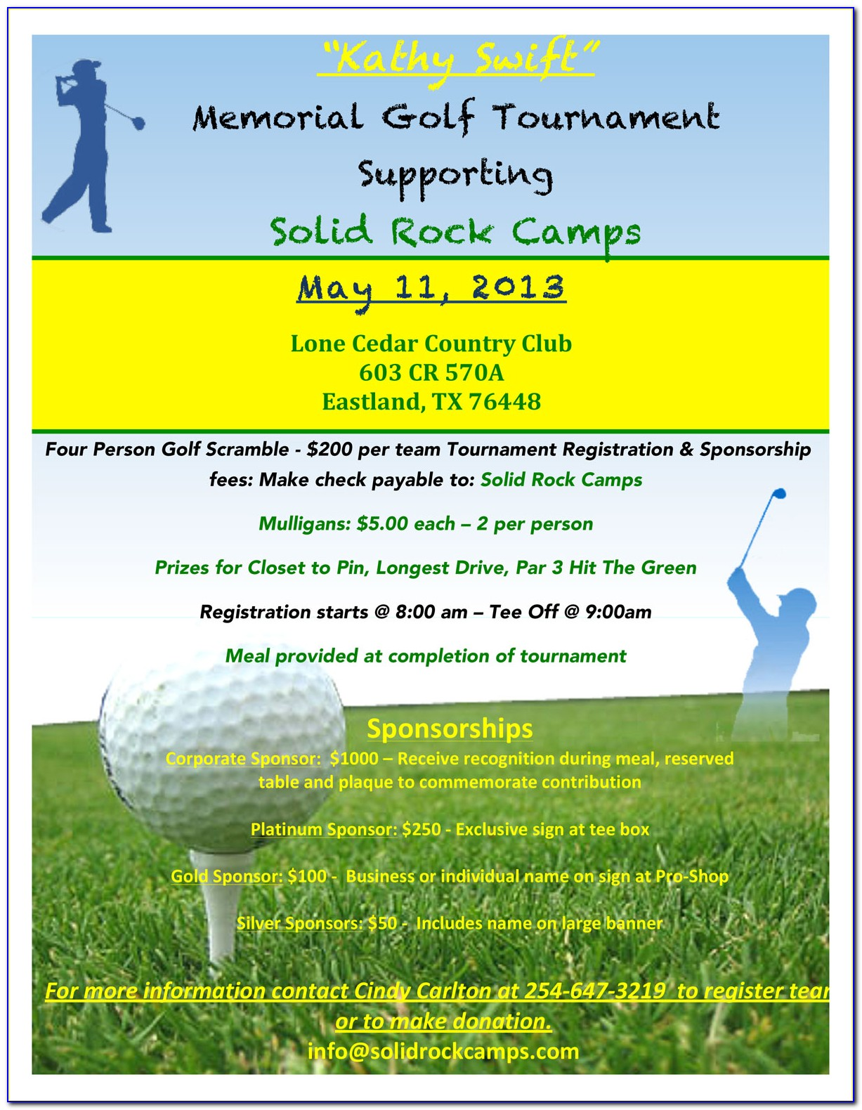 Golf Outing Invitation Template Free