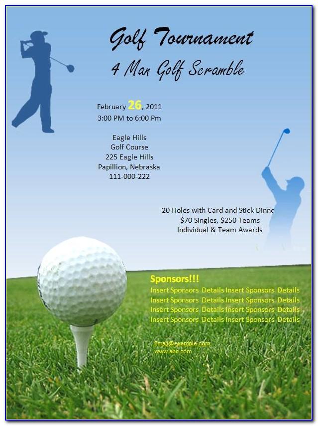 Golf Registration Form Template Free