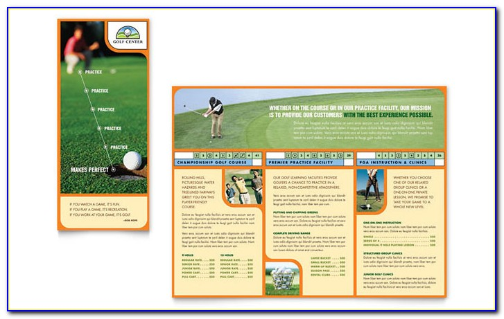 Golf Tournament Brochure Template Free