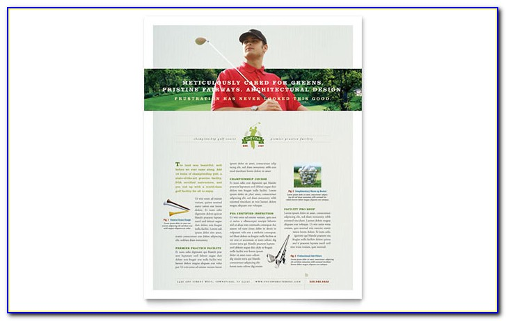 Golf Tournament Brochure Template