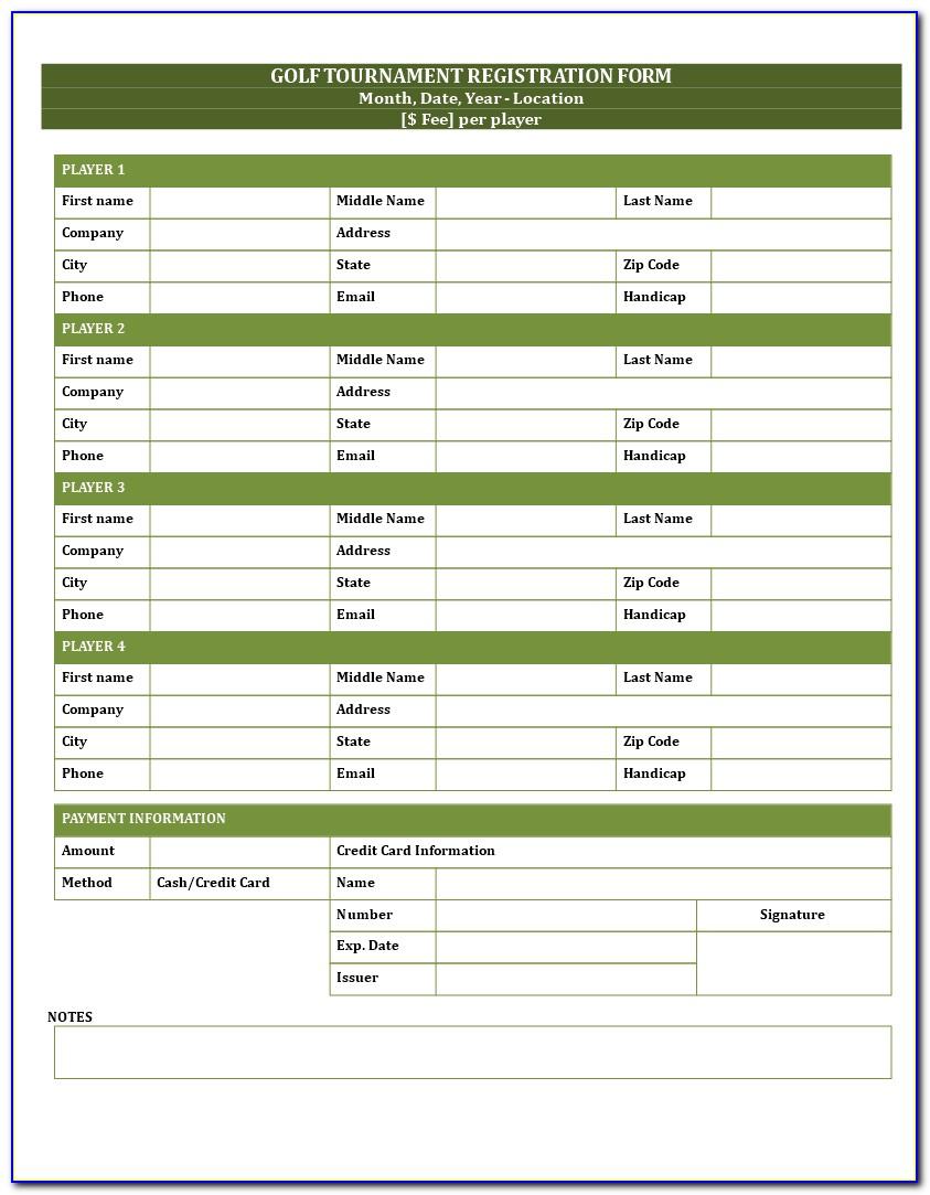Golf Tournament Event Flyer Template