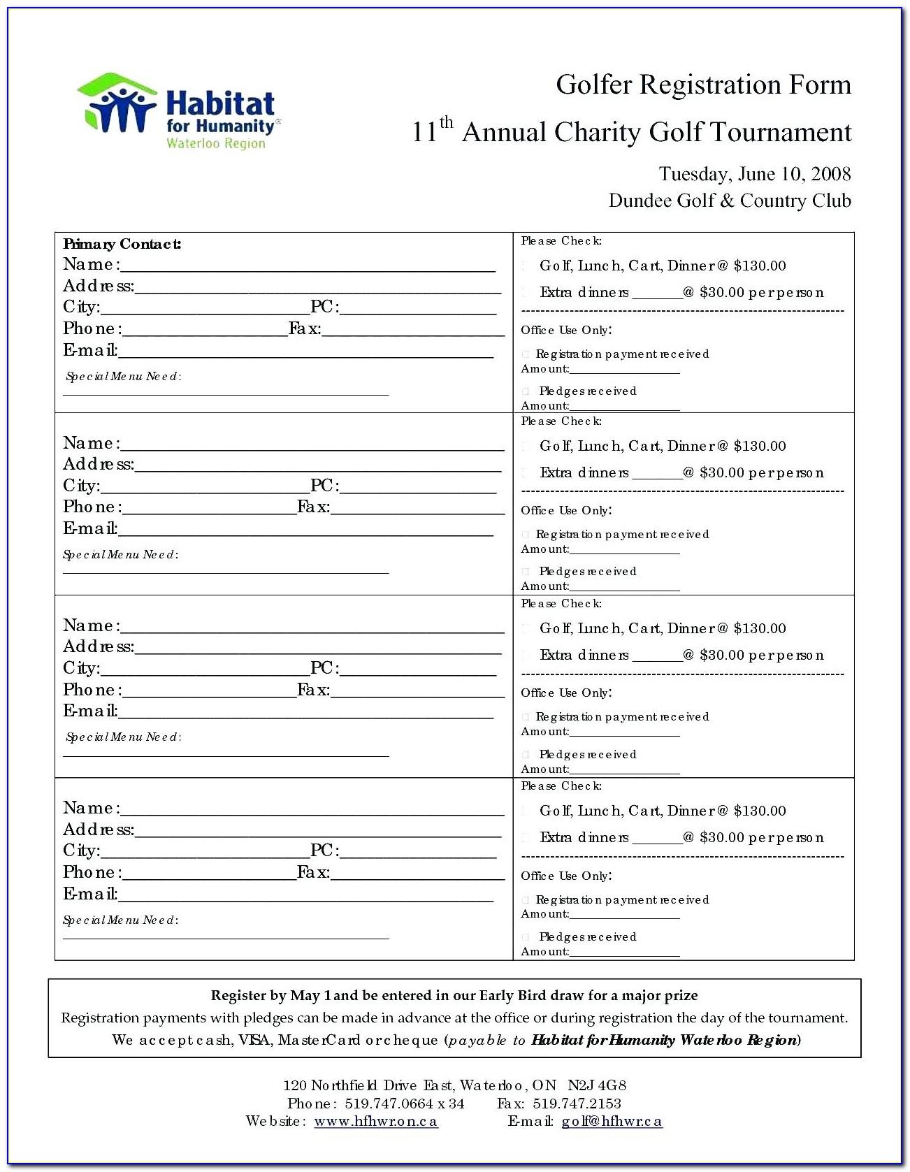 Golf Tournament Flyer Template Publisher