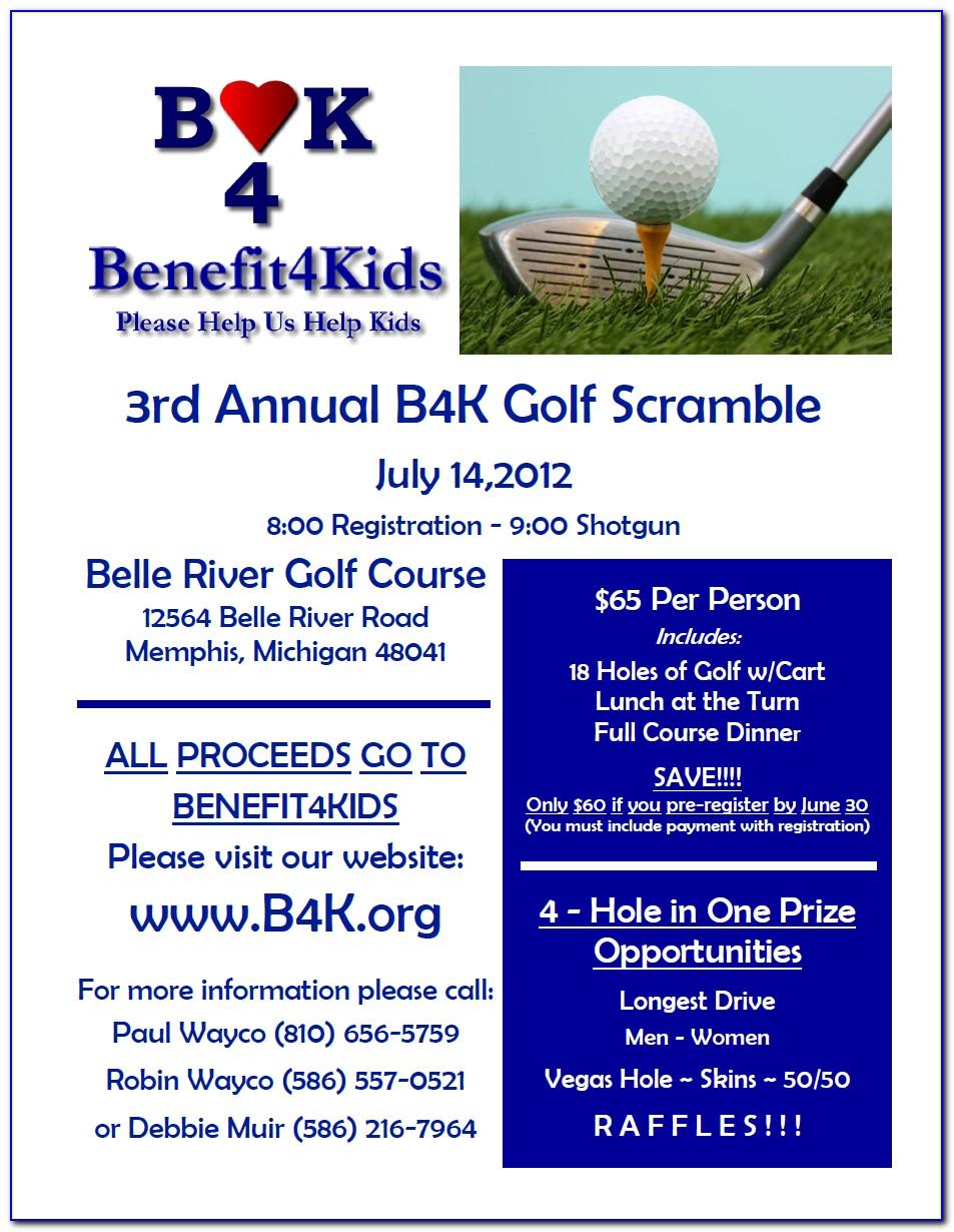 Golf Tournament Format Shamble