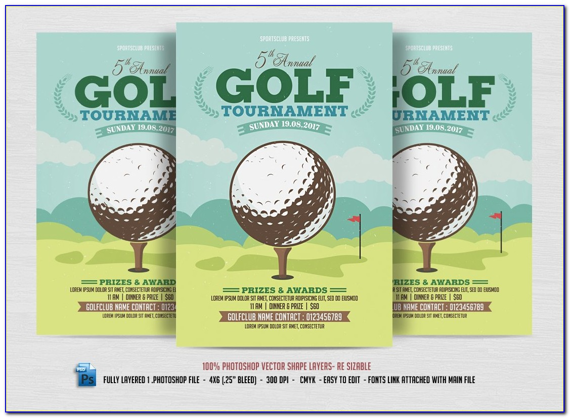 Golf Tournament Template Flyer
