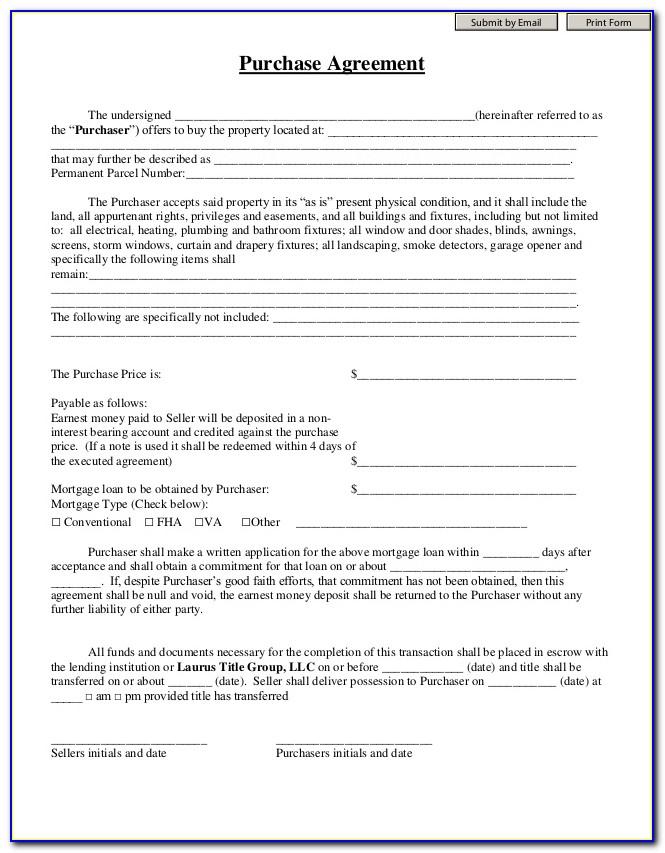 Good Faith Deposit Agreement Template
