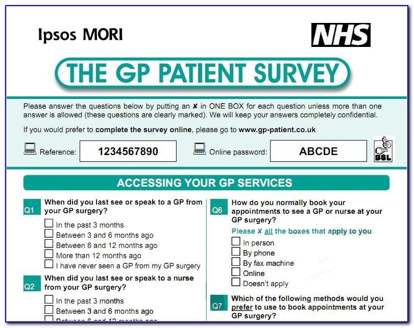 Gp Patient Survey Template