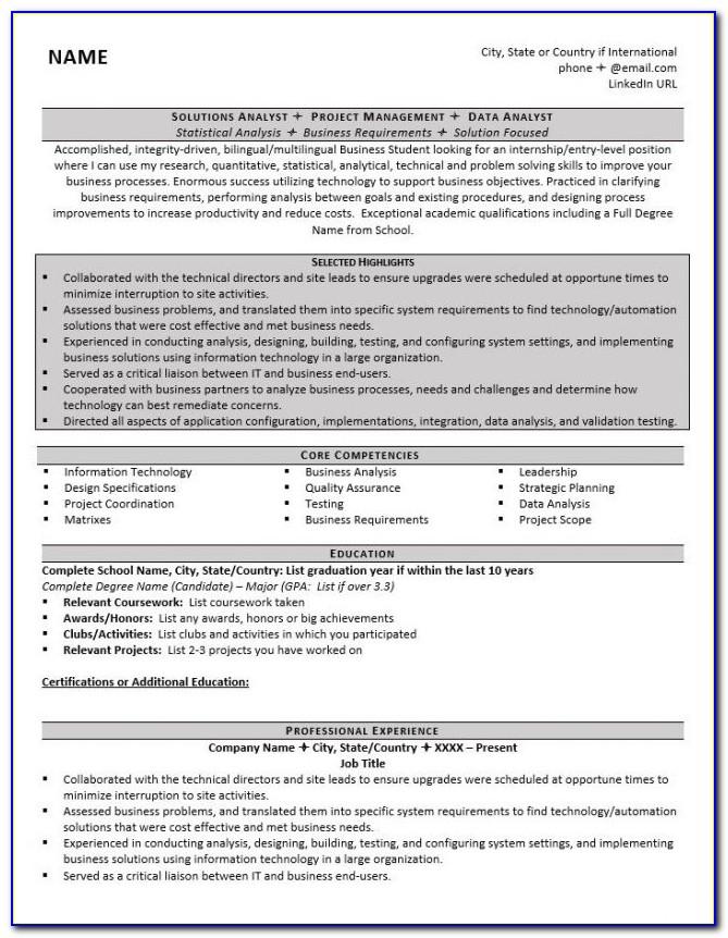 Grad School Application Cv Template
