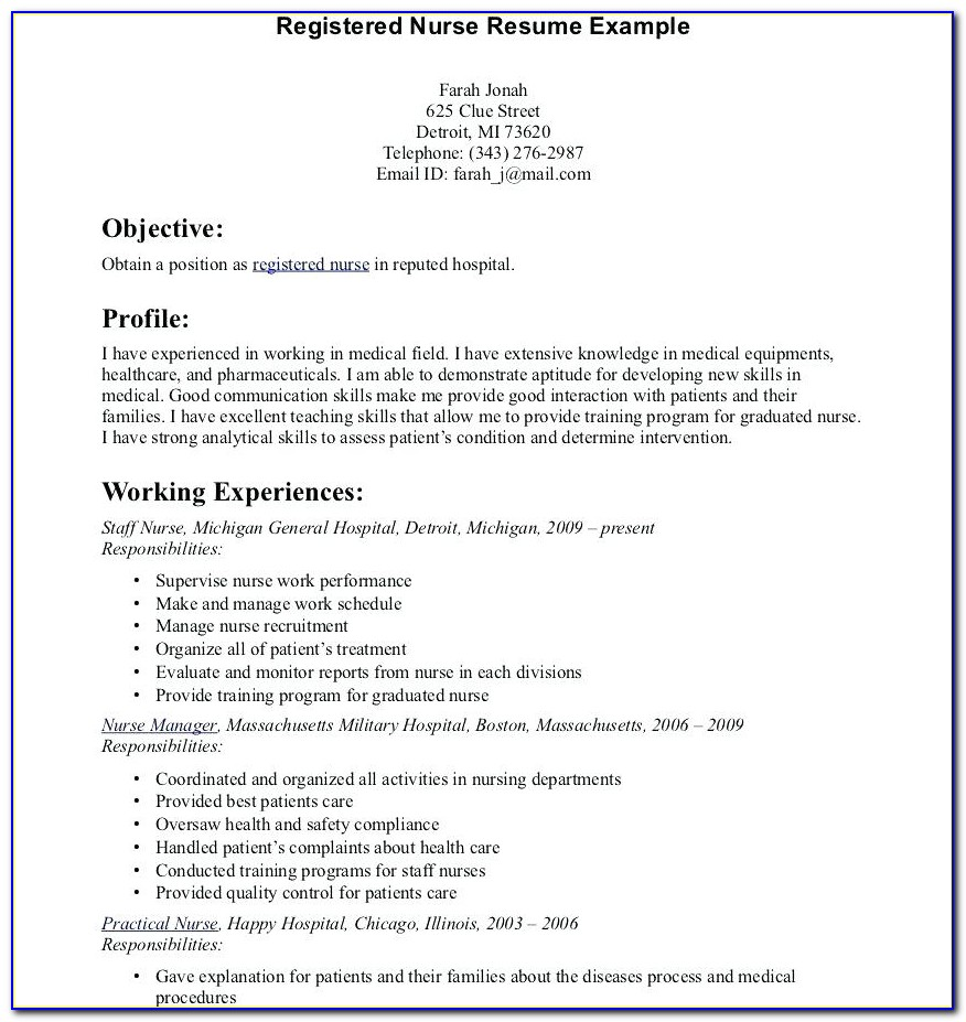 Graduate Enrolled Nurse Resume Sample
