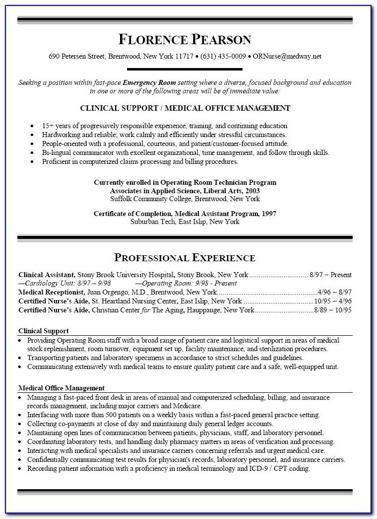 Graduate Nurse Curriculum Vitae Template