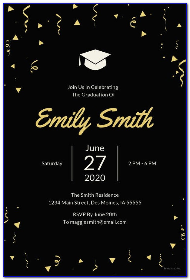 Graduation Announcement Template Free 2015