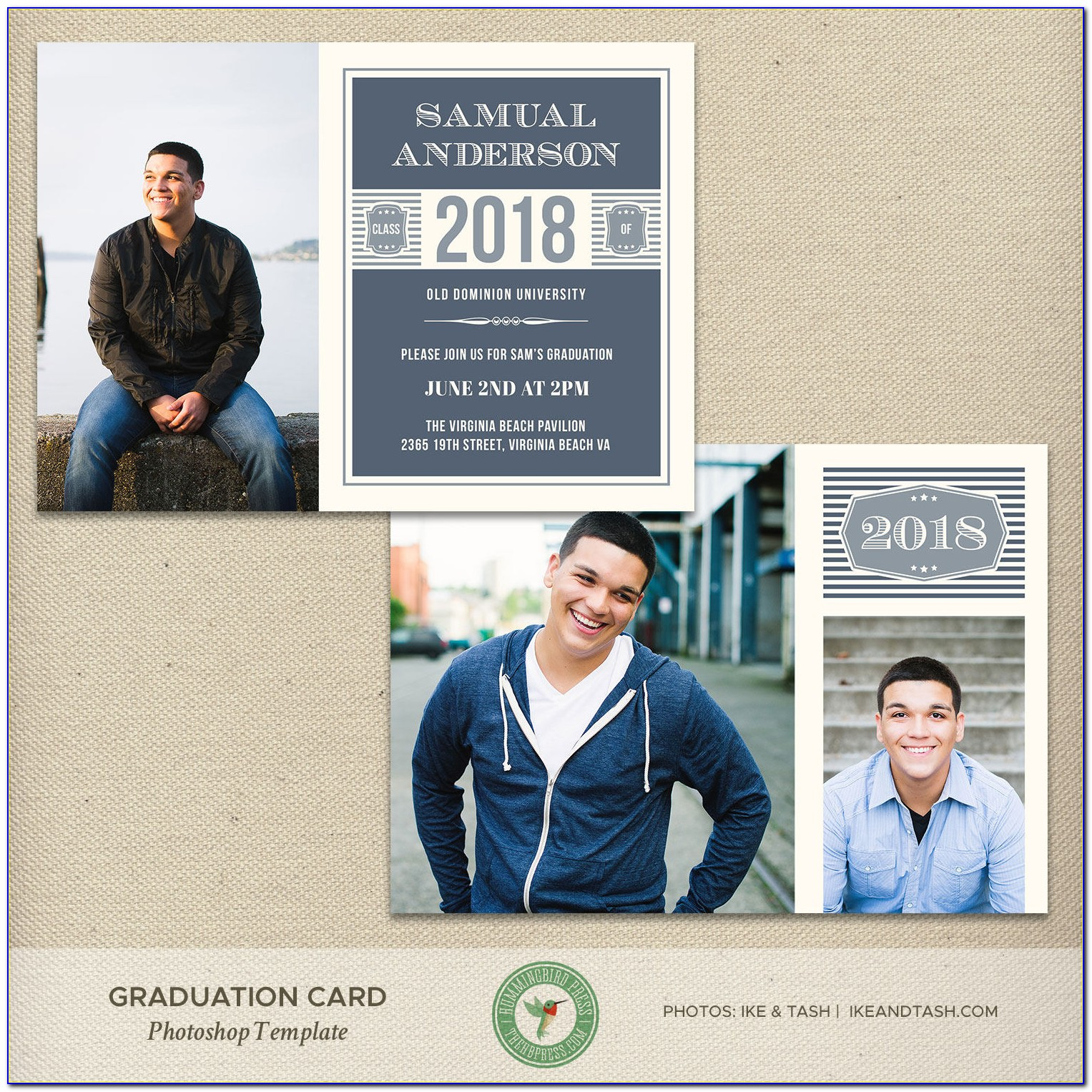 Graduation Announcement Template Photoshop Free
