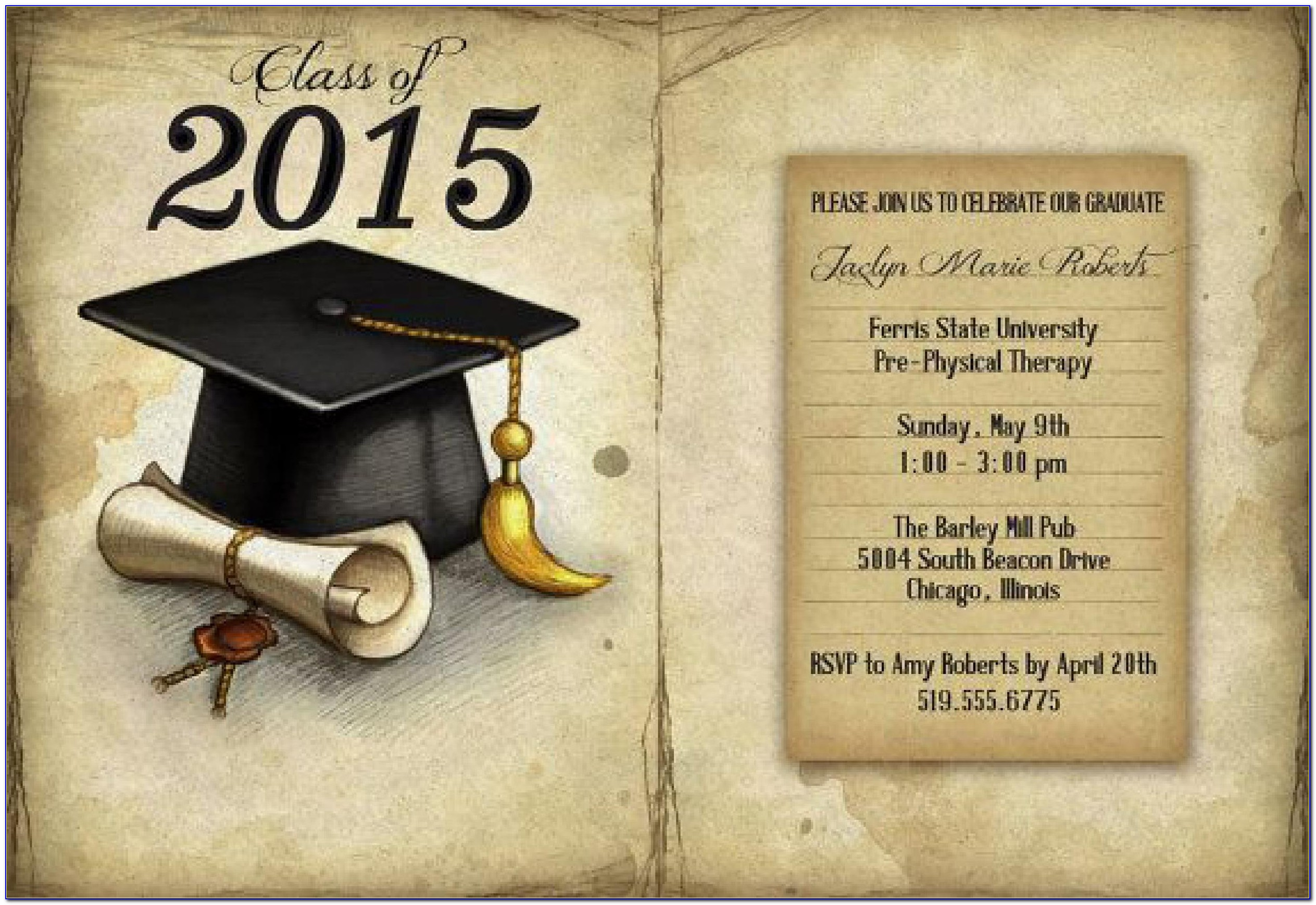 Graduation Announcement Template Word