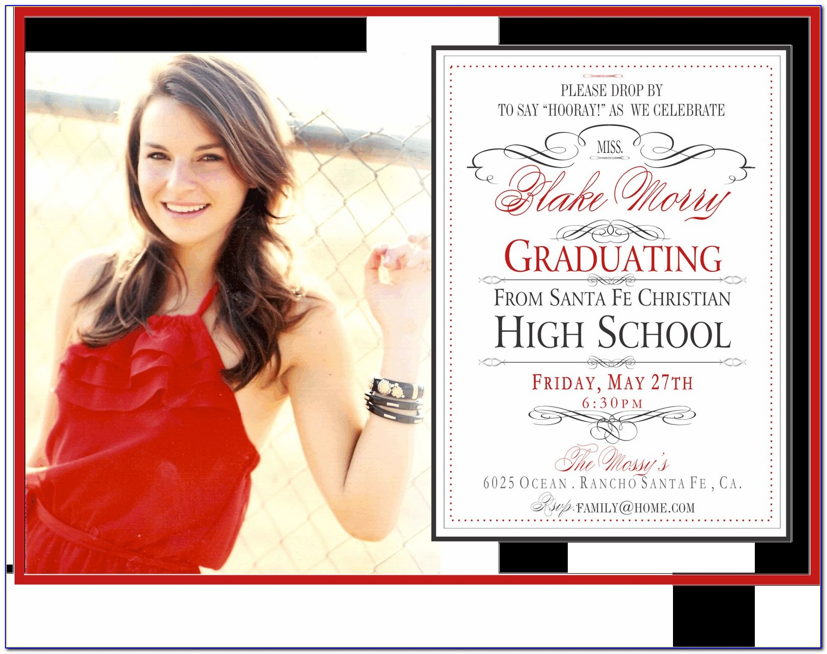 Graduation Announcement Templates Free 2014