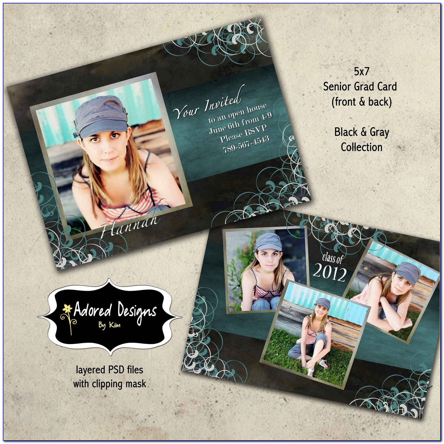 Graduation Announcements Template Photoshop
