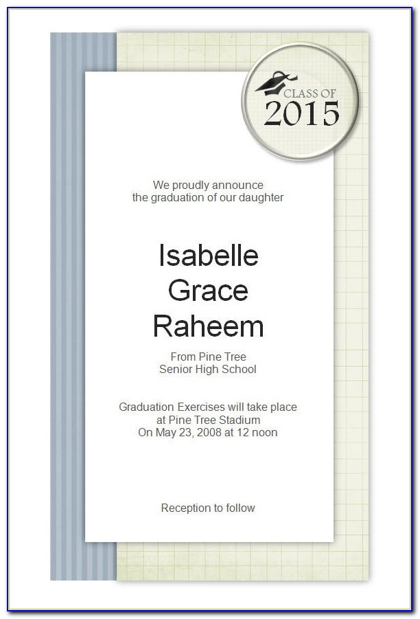 Graduation Announcements Templates Free 2014