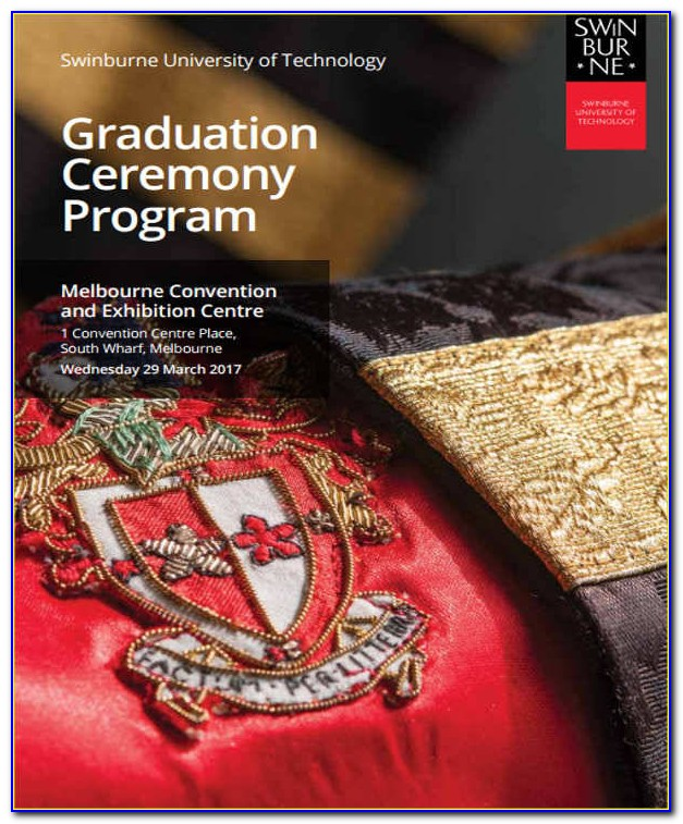 Graduation Ceremony Program Template Free