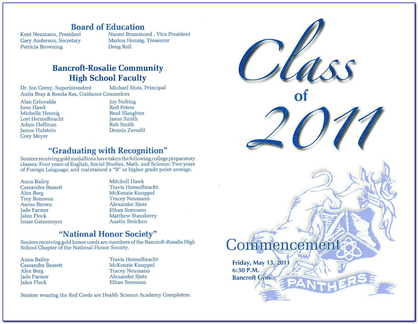 Graduation Ceremony Program Template Sample