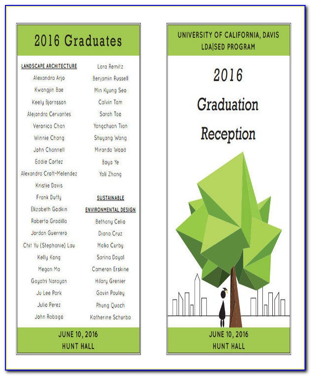 Graduation Ceremony Program Template Word