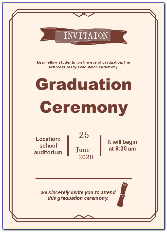 Graduation Certificate Template Psd