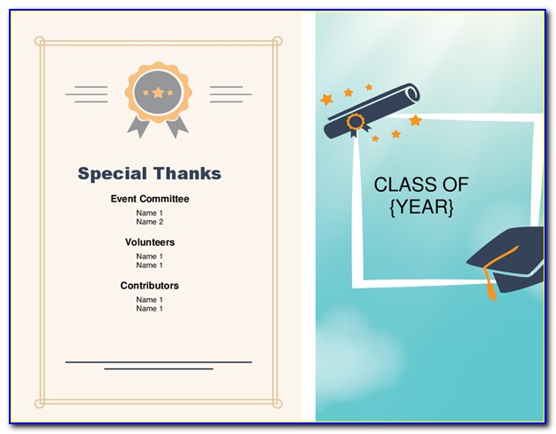 Graduation Certificate Template Publisher