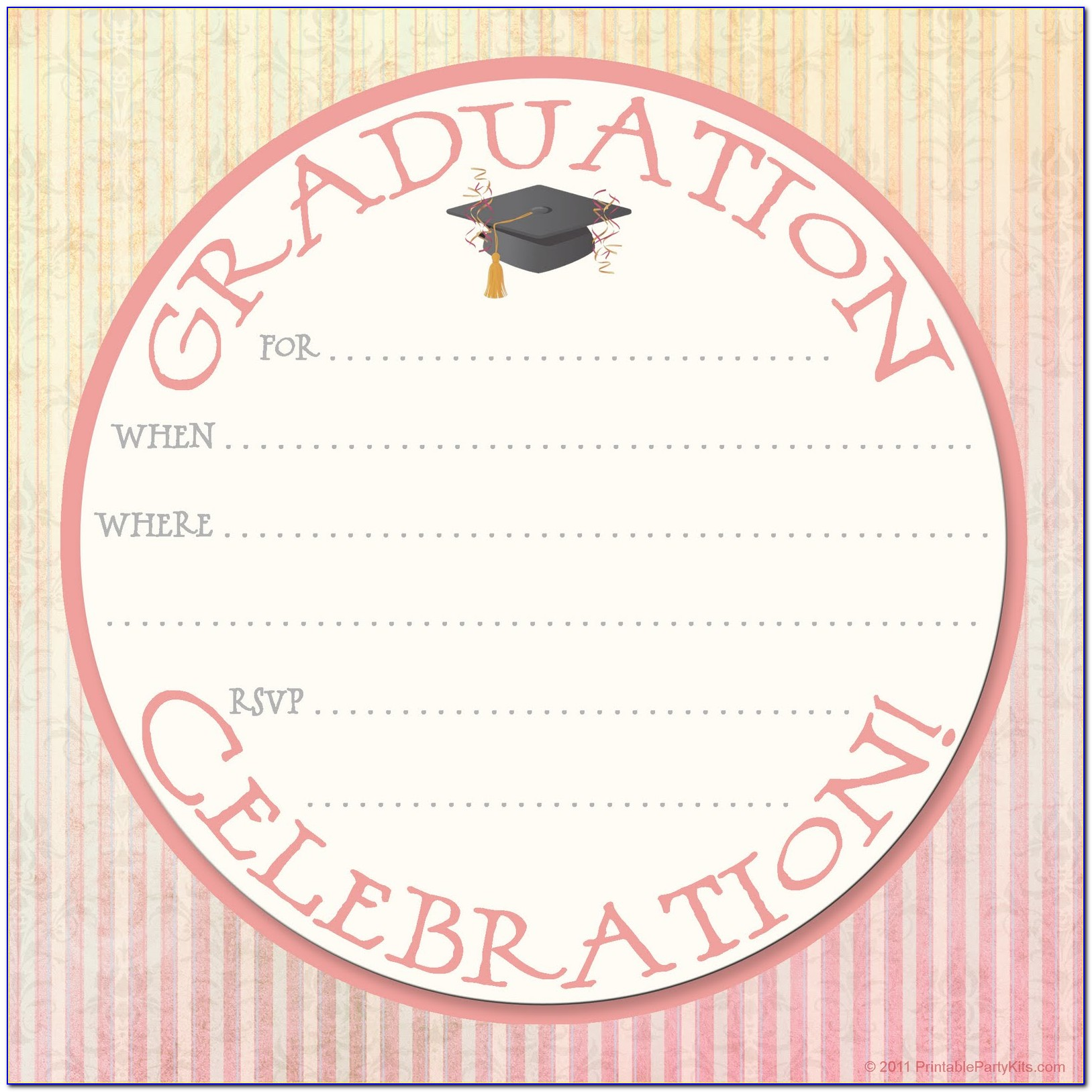 Graduation Invitation Free Templates