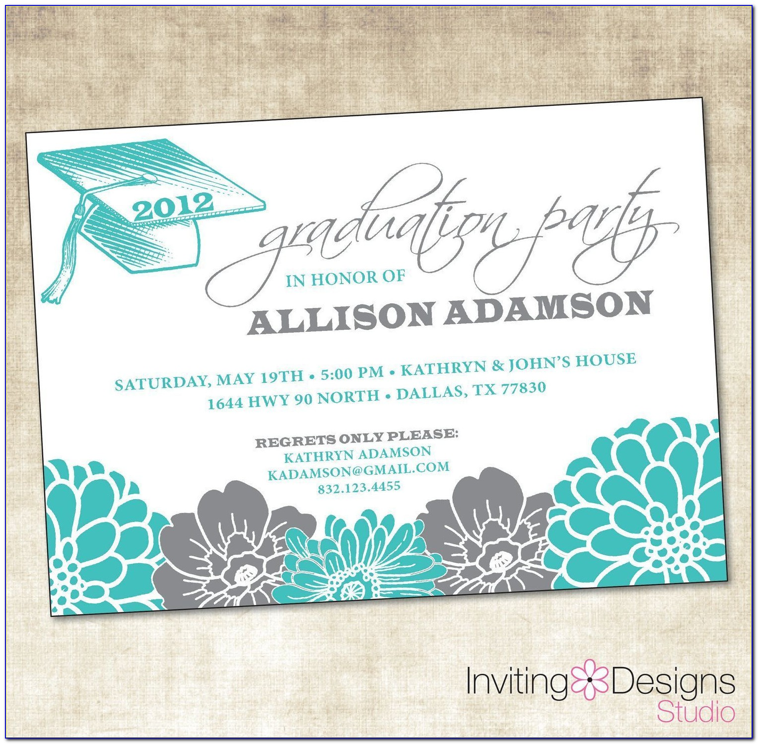 Graduation Invitation Maker Walmart