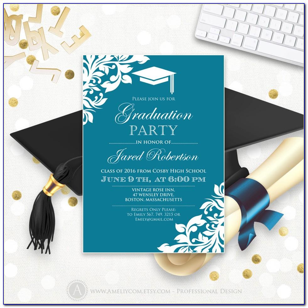 Graduation Invitation Template Free Online
