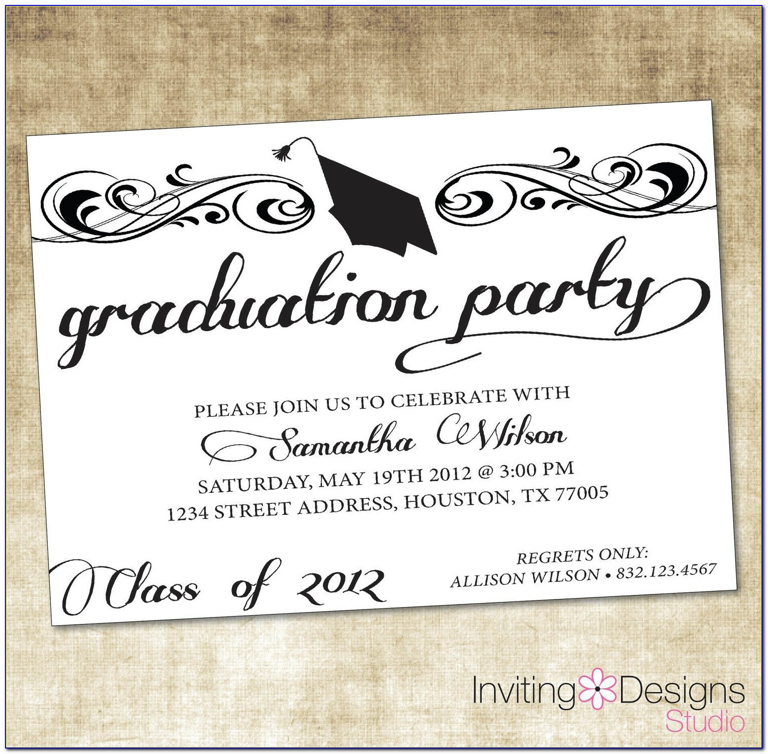 Graduation Invitation Template Free Photoshop