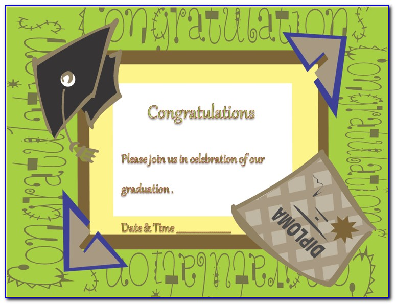 Graduation Invitation Templates 2012 Microsoft Word