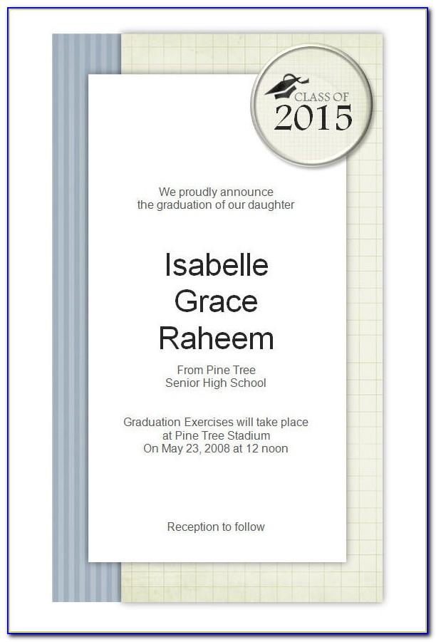 Graduation Invitation Templates 2016
