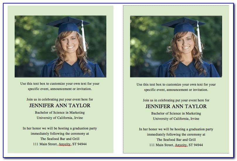 Graduation Invitation Templates Free Online