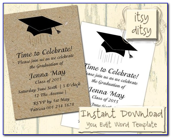 Graduation Invitation Templates Microsoft Word Free