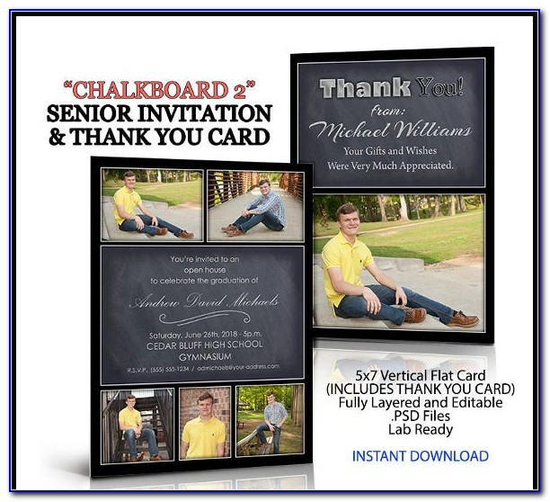 Graduation Invitation Templates Photoshop Free