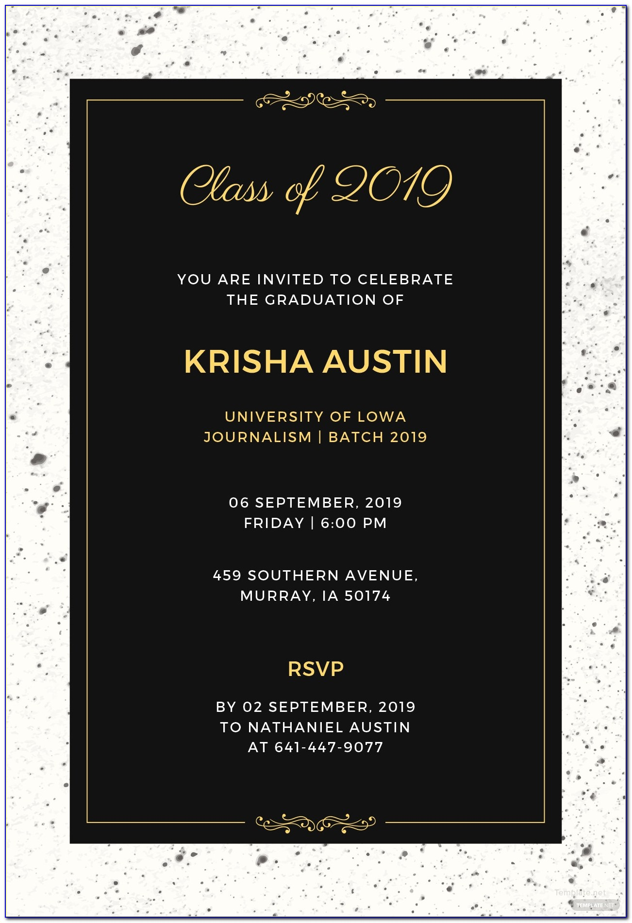 Graduation Invitations Free Templates 2014