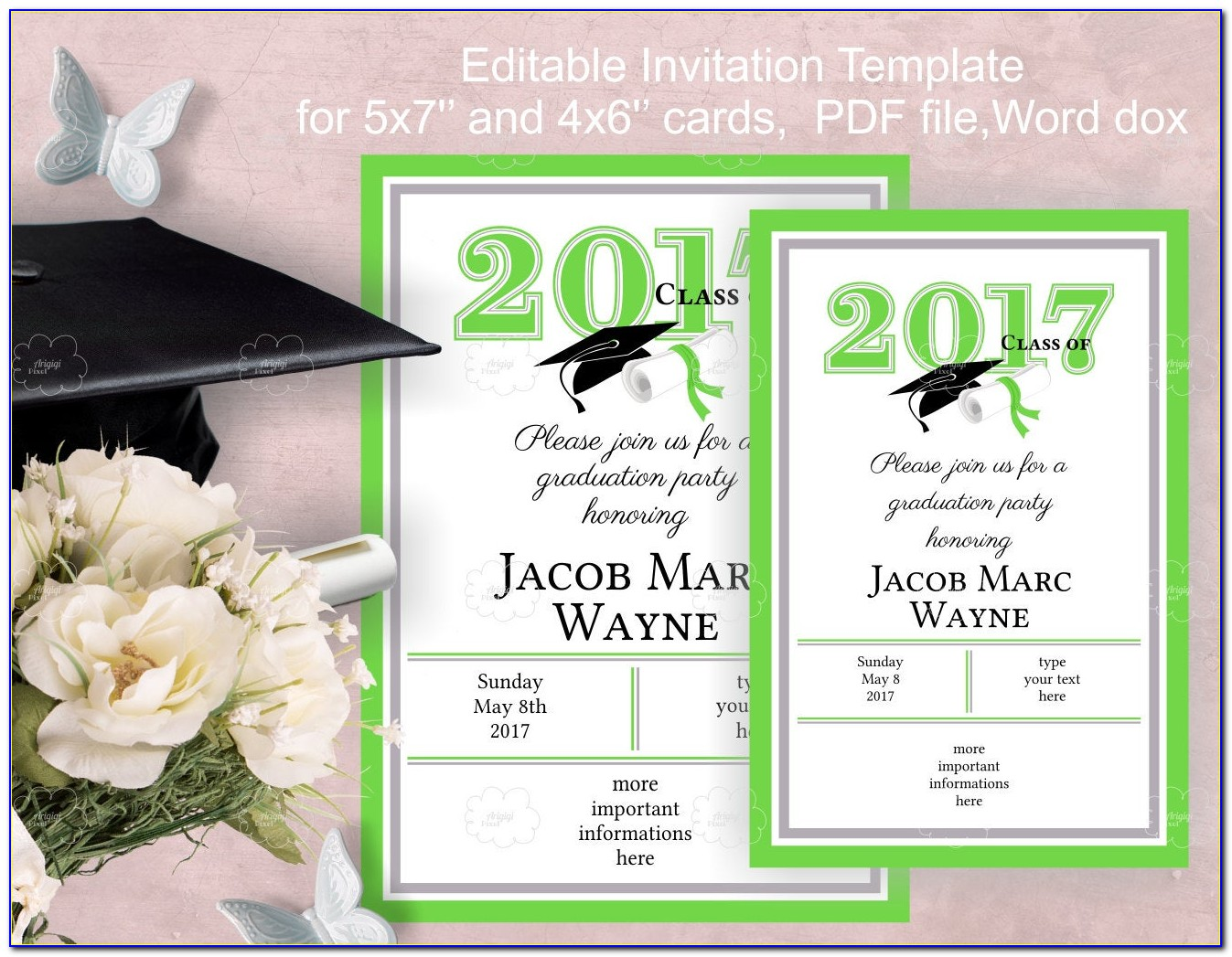 Graduation Invitations Templates Free 2012