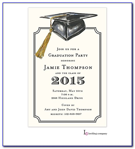 Graduation Invitations Templates Free 2017
