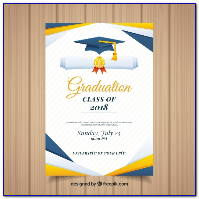 Graduation Invitations Templates Free 2018