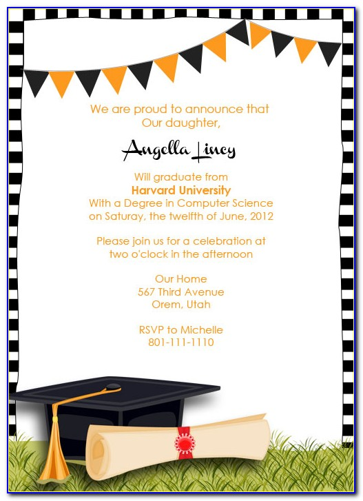 Graduation Invite Template Powerpoint