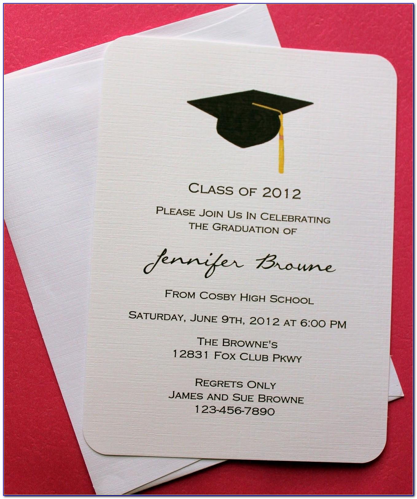 Graduation Invites Templates Free