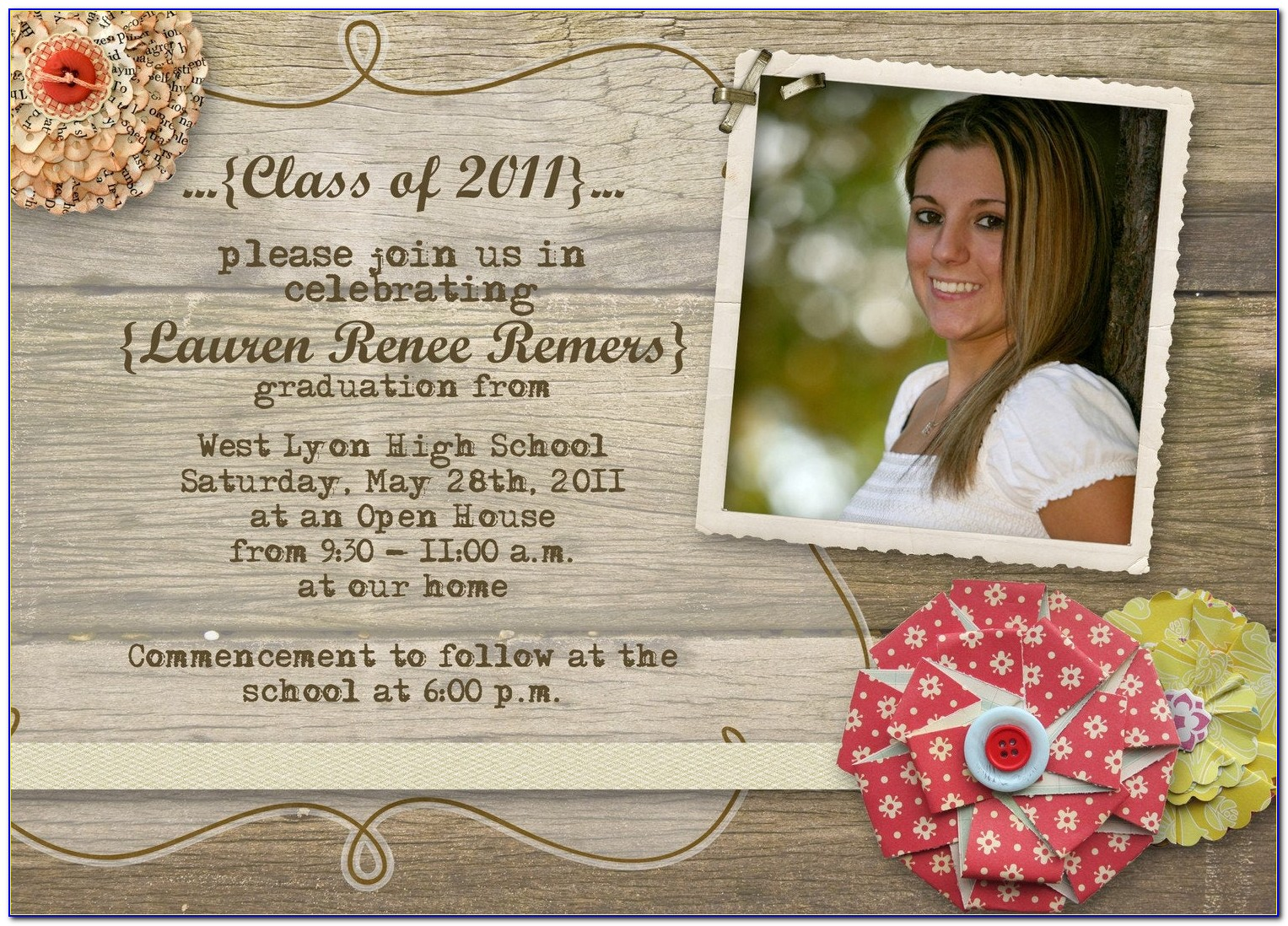 Graduation Open House Invitations Templates