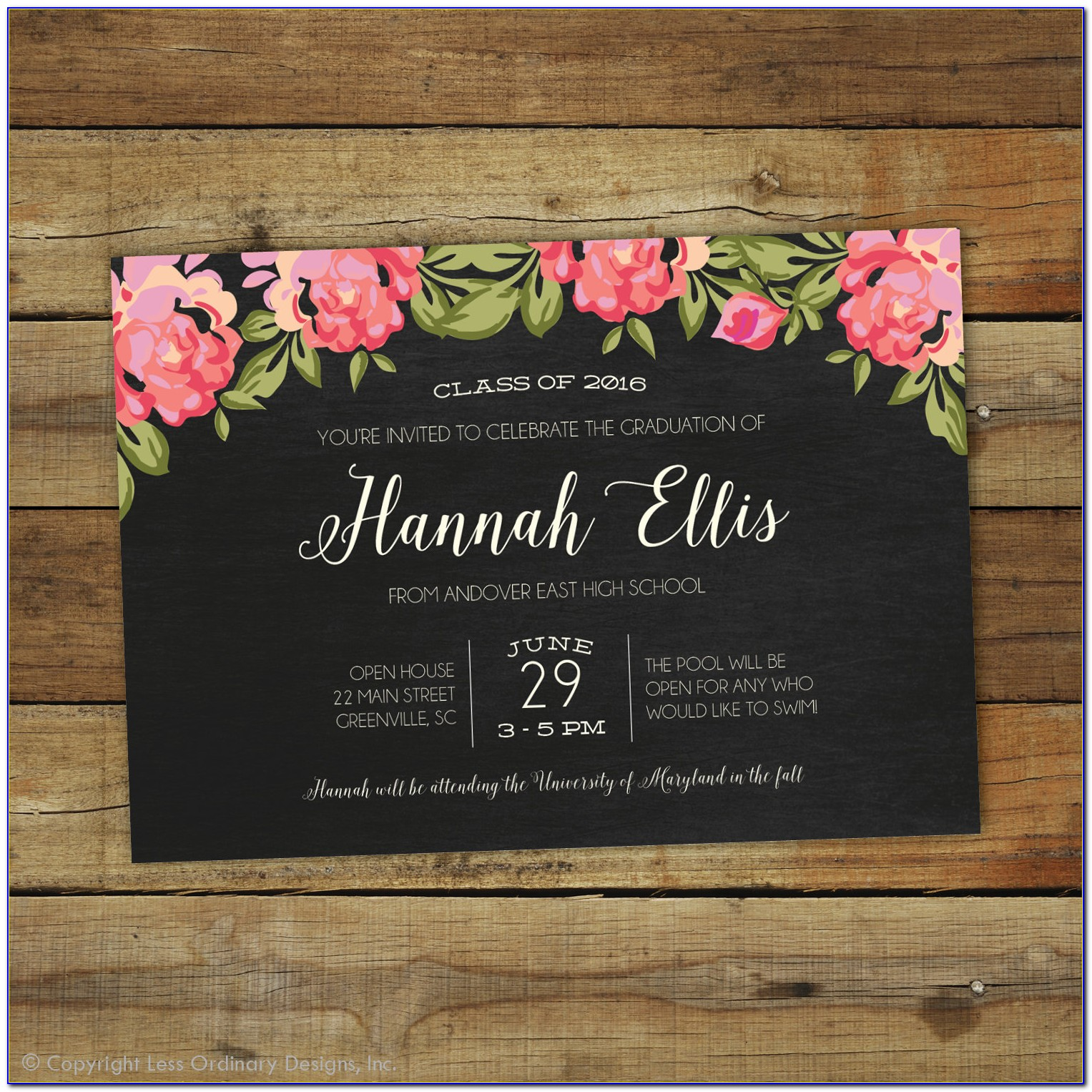 Graduation Party Invitation Card Templates
