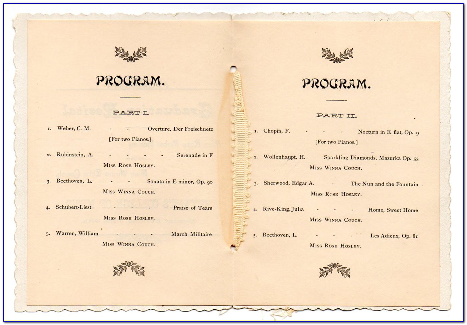 Graduation Party Program Sample