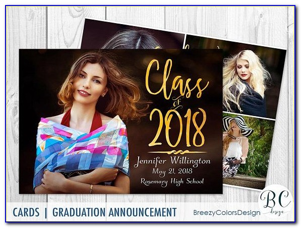Graduation Photo Announcement Templates Free