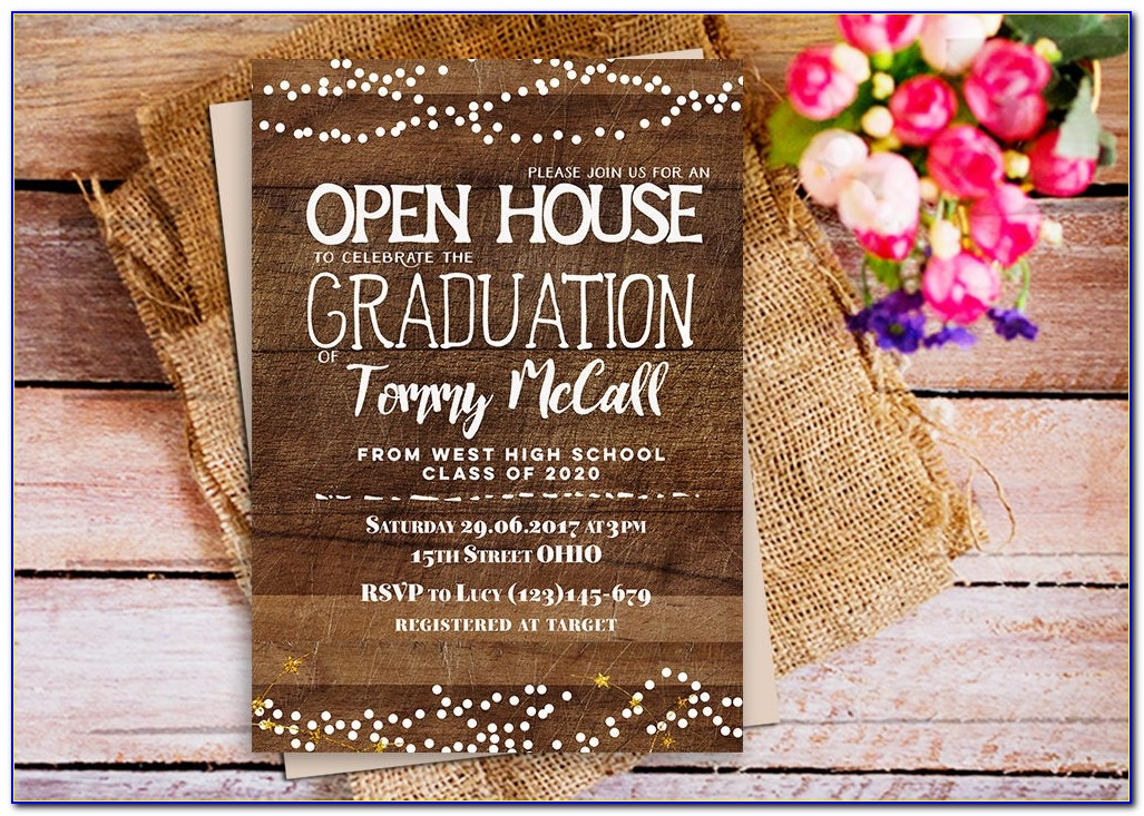 Graduation Program Invitation Designs