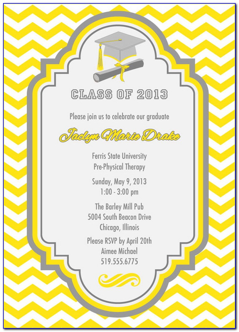 Graduation Reception Program Template