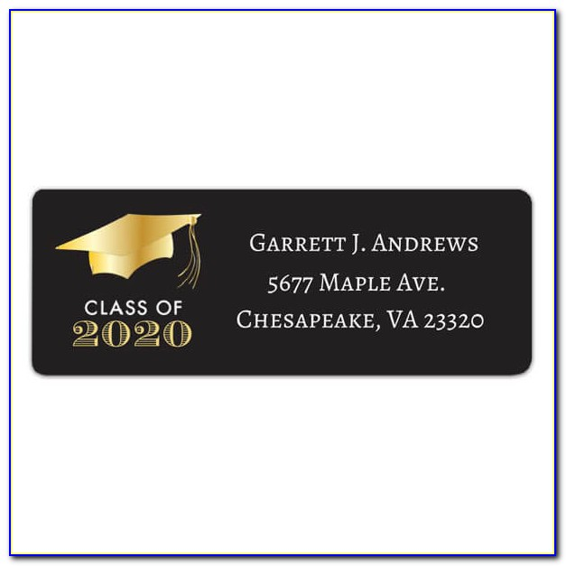 Graduation Return Address Labels Templates Free