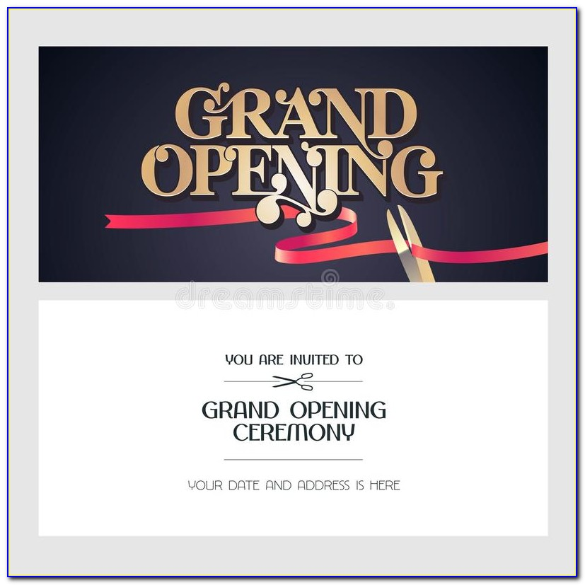 Grand Opening Event Invitation Template
