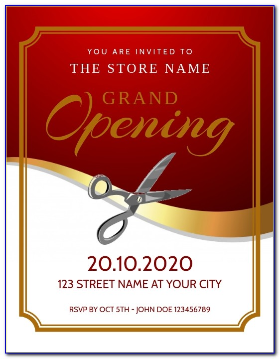 Grand Opening Flyer Template Free